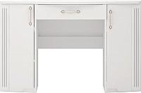 Туалетный столик Ижмебель Виктория 6 (белый глянец с порами/белая глянцевая пленка) -