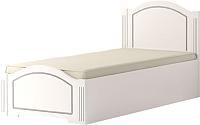 Односпальная кровать Ижмебель Виктория 20 с латами 91 (белый глянец с порами/белая глянцевая пленка) -