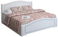 Полуторная кровать Ижмебель Виктория 33 с ПМ 120 (белый глянец с порами/белая глянцевая пленка) -