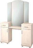 Туалетный столик с зеркалом Ижмебель Ника-Люкс 15Р (бодега) -