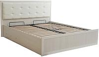 Двуспальная кровать Ижмебель Ника-Люкс 52 с ПМ 160 (бодега) -