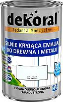 Эмаль Dekoral Эмакол Стронг (900мл, черный матовый) -