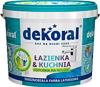 Краска Dekoral Lazienka & Kuchnia (5л, белый) -