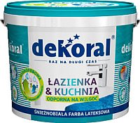 Краска Dekoral Lazienka & Kuchnia (3л, белый) -