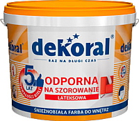 Краска Dekoral Акрилит W Plus (5л, снежно-белый) -