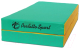 Гимнастический мат KMS sport Складной №3 1x1x0.1м (зеленый/желтый) -