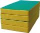 Гимнастический мат KMS sport Складной №5 1x2x0.1м (зеленый/желтый) -