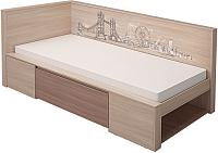 Односпальная кровать МСТ. Мебель Город №1 80x200 -