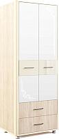 Шкаф МСТ. Мебель Оливия №12 (дуб сонома/ваниль) -