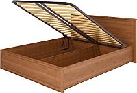 Двуспальная кровать Ижмебель Венеция 5 с ПМ 160 (клен торонто/профиль с патиной) -