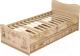 Двухъярусная кровать Ижмебель Квест 4 90 (сонома светлый) -