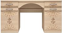 Письменный стол Ижмебель Квест 6 (дуб сонома светлый) -