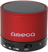 Портативная колонка Omega microSD/FM 3W Bluetooth / OG47R (красный) -