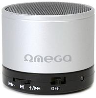 Портативная колонка Omega microSD/FM 3W Bluetooth / OG47S (серебристый) -