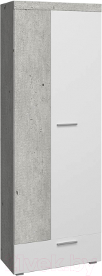 Шкаф Сакура Best №3 (бетон/белый глянец)