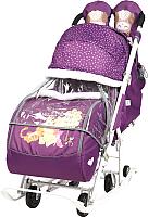 Санки-коляска Ника Disney-Baby 2. Винни и друзья / DB2/1 (баклажановый) -