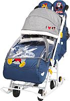 Санки-коляска Ника Disney-Baby 2. Микки Маус / DB2/4 (темно-синий) -