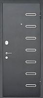 Входная дверь МеталЮр M29 Черный бархат/дуб французский серый (86x205, правая) -