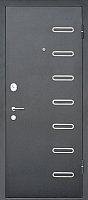 Входная дверь МеталЮр M29 Черный бархат/дуб французский сильвер (96x205, правая) -