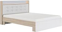 Двуспальная кровать Сакура Виктория №16M 160 (шимо светлый/белый глянец) -
