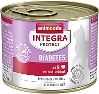 Корм для кошек Animonda Integra Protect Diabetes с говядиной / 86843 (200г) -