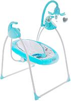 Качели для новорожденных Pituso Carino Green / TY-028P (бирюзовый/мишки) -