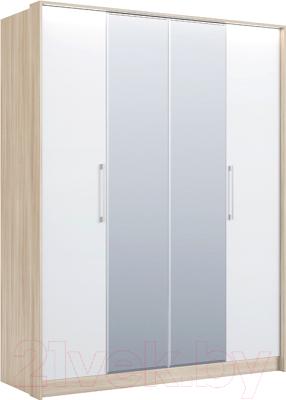 Шкаф Сакура Виктория №26 (шимо светлый/белый глянец)