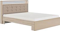 Двуспальная кровать Сакура Виктория №16M 160 (шимо светлый/мокко глянец) -