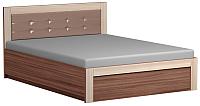 Двуспальная кровать Сакура Реал-Люкс №16ПМ с ПМ 160 (шимо темный/шимо светлый) -