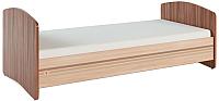 Односпальная кровать Сакура Вояж №12 90 (шимо темный/шимо светлый/мокко глянец) -