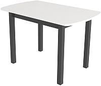 Обеденный стол Сакура Персей №2.1 (черный/бодега белый) -