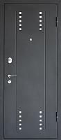 Входная дверь МеталЮр М26 Черный бархат/даркбраун (96x205, правая) -