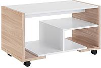 Журнальный столик МСТ. Мебель Виктория 2 (ясень шимо светлый/белый) -