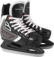 Коньки хоккейные Sundays Titan PW-230L (M, черный/серый/белый) -
