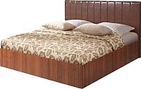 Полуторная кровать Мебель-Парк Аврора 1 200x140 (темный) -