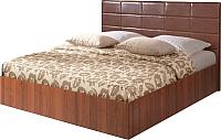 Полуторная кровать Мебель-Парк Аврора 2 200x120 (темный) -