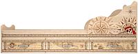 Односпальная кровать Ижмебель Квест 5 с ящиками 90 комплектация 1 (дуб сонома светлый) -