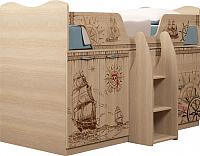 Кровать-чердак Ижмебель Квест 9 (дуб сонома светлый) -