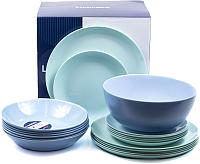 Набор тарелок Luminarc Diwali Turquoise Blue P4359 -