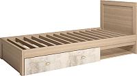 Односпальная кровать Ижмебель Ультра 5 90 (дуб сонома/дэйли) -