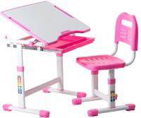 Парта+стул FunDesk Sole (розовый) -