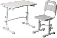 Парта+стул FunDesk Vivo II (серый) -
