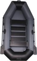 Гребная лодка Vivax К250 с ковриком-сланью (без киля, серый/черный) -
