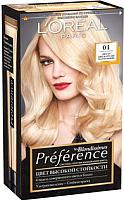 Гель-краска для волос L'Oreal Paris Preference Blondissimes 01 (светло-светло русый натуральный) -