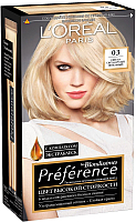 Гель-краска для волос L'Oreal Paris Preference Blondissimes 03 (светло-светло русый пепельный) -