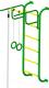 Детский спортивный комплекс Пионер 7 (зеленый/желтый) -