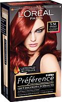 Гель-краска для волос L'Oreal Paris Preference Feria 5.56 (гранат) -