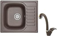 Мойка кухонная Granula 5801 + смеситель GR-4003 (эспрессо) -