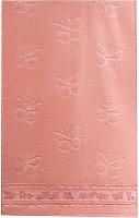 Полотенце Aquarelle Бабочки 70x140 (розовый/персиковый) -