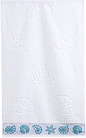 Полотенце Aquarelle Ракушки 35x70 (белый) -